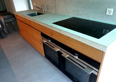 Design Küchenabdeckung aus Beton