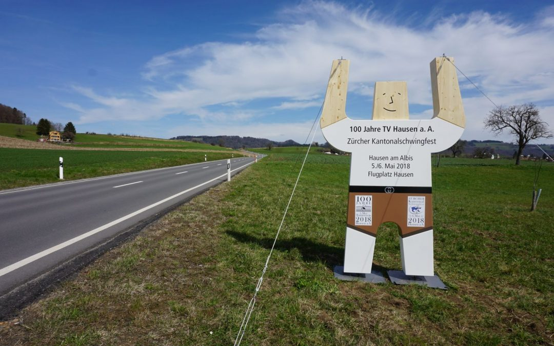 «Hausi dä Schwinger» – Albisbrunn Betriebe werben für das Zürcher Kantonalschwingfest 2018